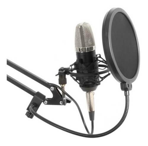 cabina grabación filtro antipop